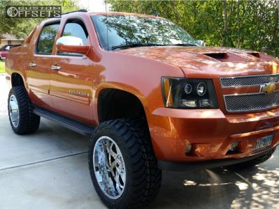 "2007 Chevrolet Avalanche - 22x12 -44mm - American Truxx Vortex - Suspension Lift 7.5"" - 325/50R22"