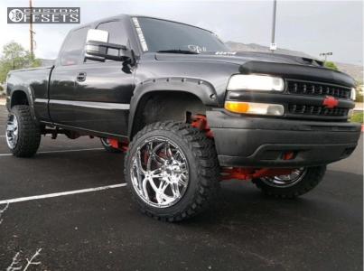 "2002 Chevrolet Silverado 1500 Classic - 22x14 -76mm - Fuel Hostage - Suspension Lift 6"" - 35"" x 12.5"""