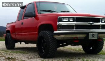 1998 Chevrolet K1500 - 20x12 -44mm - Moto Metal MO962 - Leveling Kit - 285/50R20