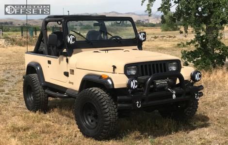 "1991 Jeep Wrangler - 15x8 0mm - Eagle Alloy Series 058 - Stock Suspension - 31"" x 10.5"""