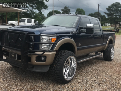 """2013 Ford F-350 Super Duty - 24x14 -76mm - Fuel Forged Ff19 - Leveling Kit - 35"""" x 13.5"""""""