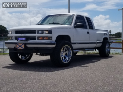 "1995 Chevrolet K1500 - 20x12 -44mm - Moto Metal 962 - Suspension Lift 3"" - 305/55R20"
