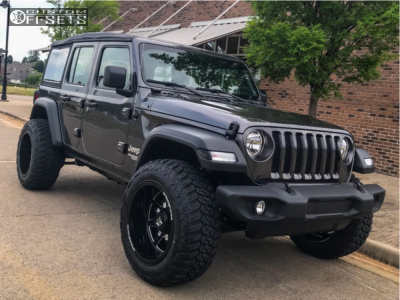 "2018 Jeep Wrangler - 20x12 -44mm - Dropstars 655bm - Suspension Lift 2.5"" - 35"" x 12.5"""