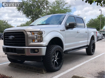 """2017 Ford F-150 - 22x10 -25mm - Hostile Switch Blade - Suspension Lift 5"""" - 35"""" x 12.5"""""""