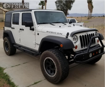 2009 Jeep Wrangler - 17x9 0mm - Mickey Thompson Classic Baja Lock - Stock Suspension - 305/65R17
