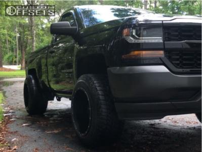 "2016 Chevrolet Silverado 1500 - 20x14 -76mm - Fuel Hostage - Leveling Kit - 33"" x 12.5"""