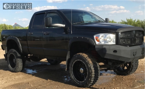 "2007 Dodge Ram 2500 - 22x11 -25mm - XD Xd766 - Suspension Lift 6"" - 37"" x 13.5"""