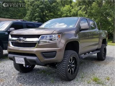 "2015 Chevrolet Colorado - 20x9 0mm - Moto Metal Mo970 - Suspension Lift 6"" - 285/55R20"