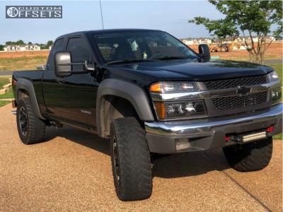 """2005 Chevrolet Colorado - 18x8.5 0mm - Dick Cepek Torque - Suspension Lift 3"""" - 285/65R18"""