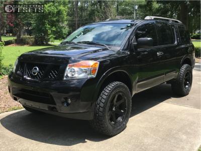 2015 Nissan Armada - 20x10 -20mm - Fuel Ripper - Leveling Kit - 305/55R20