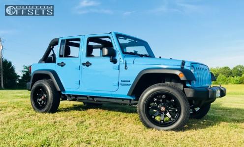2017 Jeep Wrangler - 20x10 -24mm - Ballistic Beast - Leveling Kit - 275/60R20