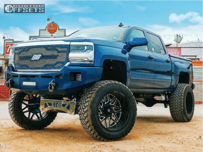 """2016 Chevrolet Silverado 1500 - 24x14 -76mm - Gear Forged Custom - Lifted >12"""" - 40"""" x 15.5"""""""
