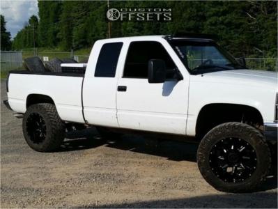 "1996 Chevrolet K1500 - 20x12 -44mm - Gear Off-Road Kickstand - Suspension Lift 4"" - 35"" x 12.5"""