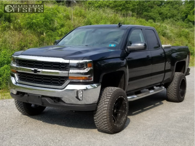 "2017 Chevrolet Silverado 1500 - 20x12 -44mm - Ballistic Rage - Suspension Lift 6.5"" - 33"" x 12.5"""