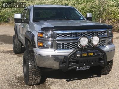 "2014 Chevrolet Silverado 1500 - 20x12 -51mm - Vision Rocker - Suspension Lift 8"" - 35"" x 12.5"""