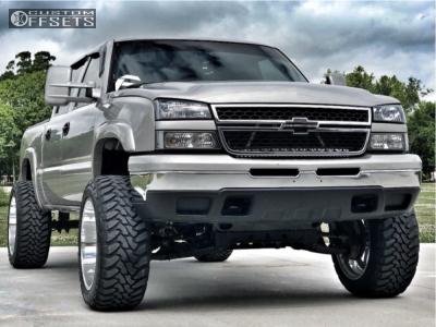 "2006 Chevrolet Silverado 1500 - 22x12 -51mm - Fuel Forged Ff09 - Suspension Lift 6"" - 35"" x 12.5"""