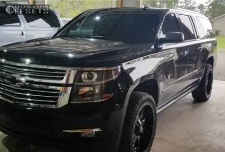 2016 Chevrolet Suburban - 22x10 10mm - Fuel Maverick D610 - Leveling Kit - 285/45R22