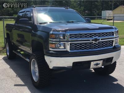 """2015 Chevrolet Silverado 1500 - 20x9.5 20mm - Bbs Rd - Suspension Lift 6"""" - 35"""" x 12.5"""""""