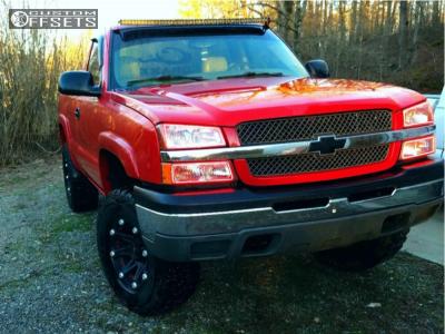 """2003 Chevrolet Silverado 1500 Classic - 17x9 0mm - Ballistic Jester - Suspension Lift 6"""" - 315/70R17"""