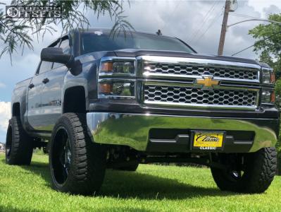 "2014 Chevrolet Silverado 1500 - 22x12 -44mm - Fuel Moab - Suspension Lift 6.5"" - 35"" x 12.5"""