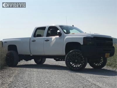 """2008 Chevrolet Silverado 3500 HD - 24x14 -76mm - TIS 544bm - Suspension Lift 4"""" - 35"""" x 12.5"""""""