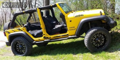 "2011 Jeep Wrangler - 20x9 -12mm - Scorpion SC17 - Suspension Lift 3.5"" - 35"" x 12.5"""