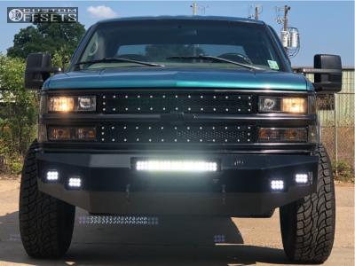 "1998 Chevrolet C1500 - 18x10 -24mm - Tuff T15 - Suspension Lift 4"" - 33"" x 12.5"""