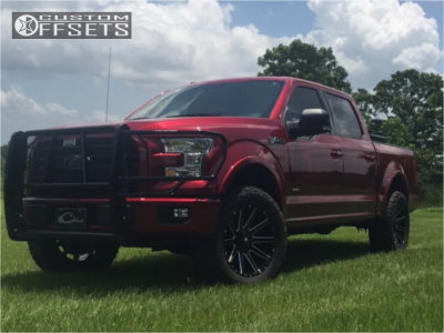 2015 Ford F-150 - 20x9 1mm - Fuel Contra - Leveling Kit - 305/55R20
