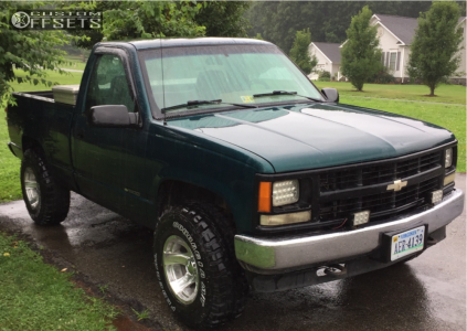 1995 Chevrolet K1500 - 16x10 -32mm - Pacer Warrior - Stock Suspension - 285/75R16