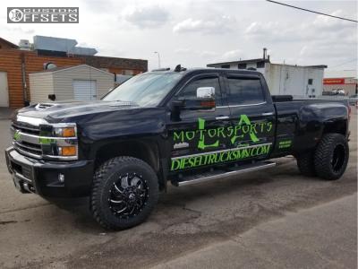 "2018 Chevrolet Silverado 3500 HD - 20x8.25 105mm - Fuel Cleaver - Stock Suspension - 0"" x12.5"""
