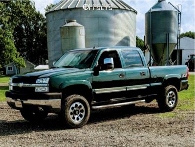 2003 Chevrolet Silverado 2500 HD - 17x8.5 18mm - American Outlaw Ranger - Leveling Kit - 285/70R17