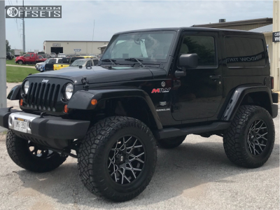 "2011 Jeep Wrangler - 20x10 -24mm - XD Xd831 - Suspension Lift 3.5"" - 325/60R20"