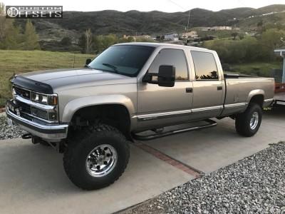 "1998 Chevrolet K3500 - 16x10 -24mm - American Eagle 58 - Suspension Lift 6"" - 315/75R16"