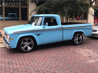 1968 Dodge D100 - 20x10 0mm - Ridler Style 695 - Lowered on Springs - 295/50R20