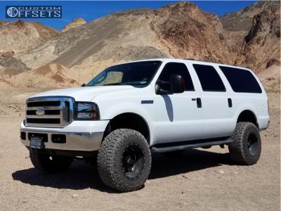 "2005 Ford Excursion - 18x12 -44mm - Moto Metal Mo962 - Suspension Lift 4"" - 35"" x 12.5"""