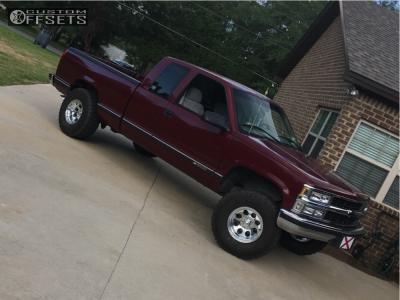 "1996 Chevrolet C1500 - 15x10 -38mm - Alloy Ion 171 - Suspension Lift 4"" - 33"" x 12.5"""