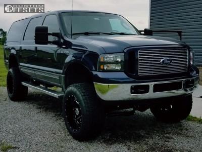 "2003 Ford Excursion - 20x12 -44mm - Hostile Alpha - Suspension Lift 5.5"" - 35"" x 12.5"""