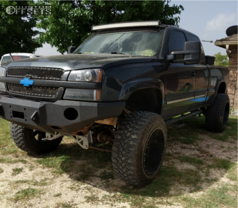 "2004 Chevrolet Silverado 1500 - 22x14 -76mm - Red Dirt Road Rd01 - Suspension Lift 8.5"" - 37"" x 13.5"""