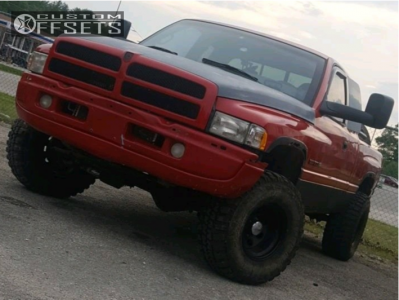 """1998 Dodge Ram 1500 - 15x12 -63mm - Pacer Soft 8 - Leveling Kit - 33"""" x 12.5"""""""