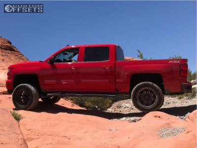 "2017 Chevrolet Silverado 1500 - 20x10 -24mm - Havok H109 - Suspension Lift 6.5"" - 33"" x 12.5"""