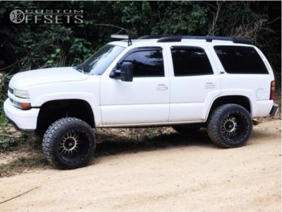 "2004 Chevrolet Tahoe - 20x14 -76mm - XD Riot - Suspension Lift 6"" - 35"" x 12.5"""