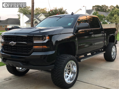 "2018 Chevrolet Silverado 1500 - 22x12 -40mm - American Force Trax Ss - Suspension Lift 8"" - 325/50R22"