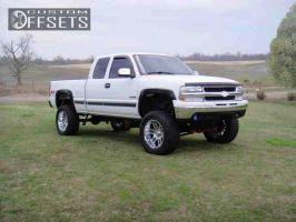 "2000 Chevrolet Silverado 1500 - 20x10 -24mm - Moto Metal MO951 - Suspension Lift 6"" - 35"" x 12.5"""