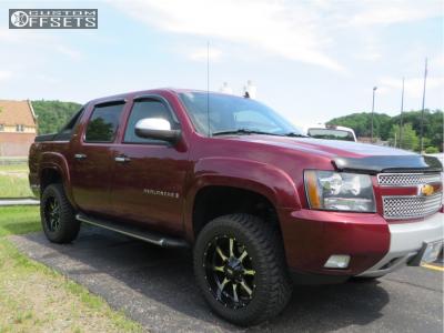 "2008 Chevrolet Avalanche 1500 - 20x9 0mm - Moto Metal Mo970 - Suspension Lift 3.5"" - 285/55R20"
