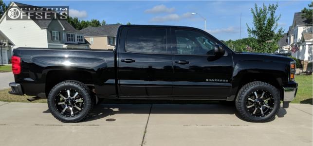 2015 Chevrolet Suburban 1500 - 20x9 0mm - Moto Metal Mo970 - Leveling Kit - 285/55R20