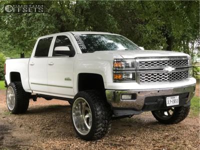 "2014 Chevrolet Silverado 1500 - 24x14 -73mm - American Force Blade Ss8 - Suspension Lift 8"" - 35"" x 13.5"""