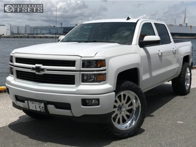 "2014 Chevrolet Silverado 1500 - 22x11 0mm - American Force Octane Ss - Suspension Lift 4"" - 325/50R22"