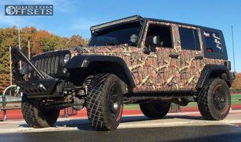 """2007 Jeep Wrangler - 17x8 10mm - Xd Rockstar Ii - Suspension Lift 3.25"""" - 35"""" x 12.5"""""""
