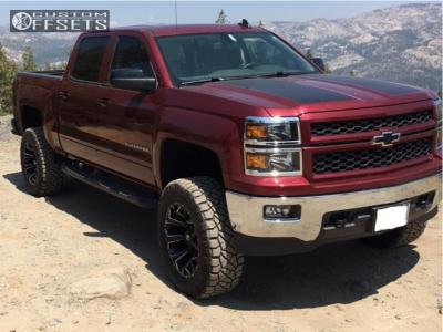 """2015 Chevrolet Silverado 1500 - 20x10 -18mm - Fuel Assault - Suspension Lift 6.5"""" - 295/55R20"""