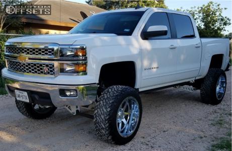 "2015 Chevrolet Silverado 1500 - 22x12 -44mm - Gear Off-Road Big Block - Suspension Lift 9.5"" - 35"" x 12.5"""